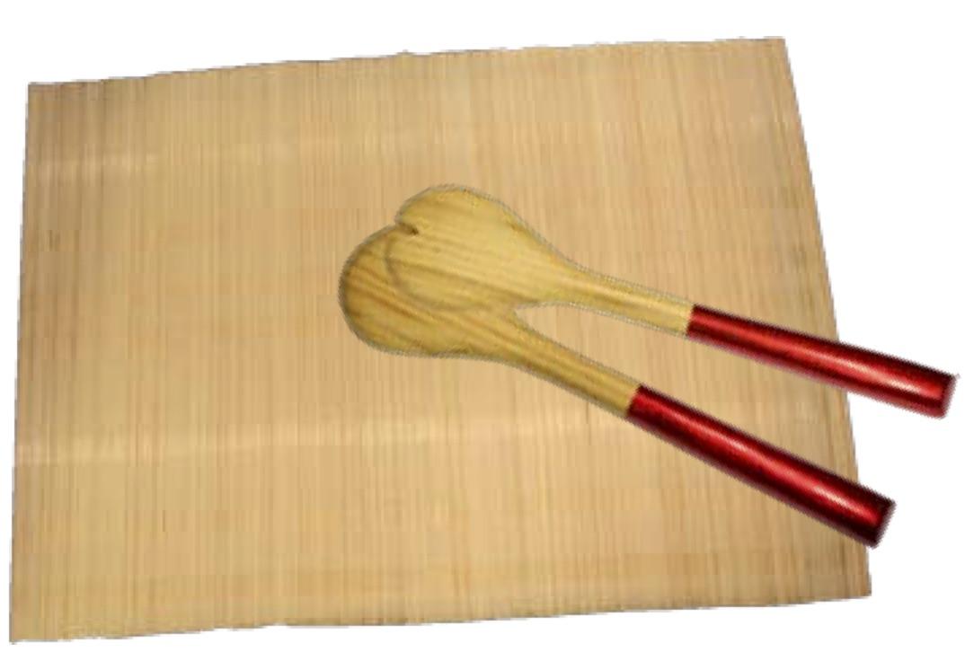 Bambuunderlägg naturell
