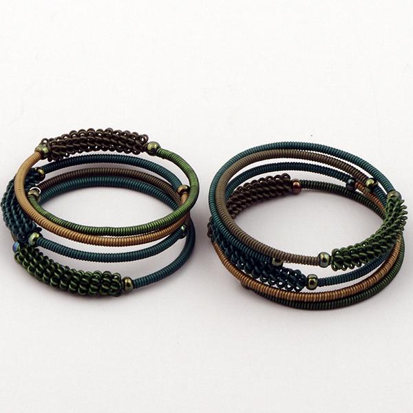 Armband Green Tiles S