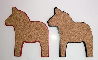 Karottunderlägg/Trivets - Kork/Cork - Karottunderlägg/Trivets Kork/Cork - Dalahäst/Horse Svart/Black
