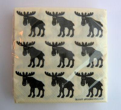 Servetter & Ställ/Napkins & Holder - Servetter Älg/Napkin Elk