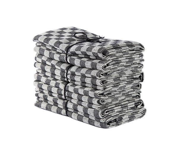 Handduk Schack svart-vit
