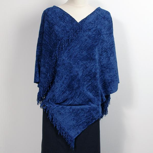 Bambuponcho Kungsblå