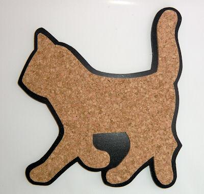 Katt grytunderlägg i kork