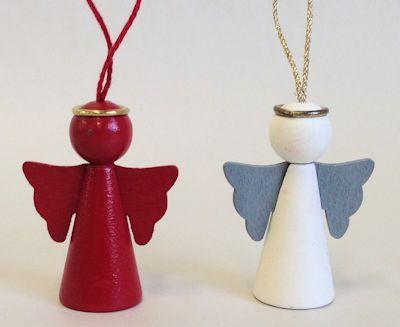 Dekorationer/Ornaments - Ängel/Angel - Dekorationer/Ornaments Ängel/Angel - Röd/Red