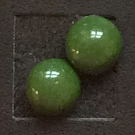 Örhängen - Green Leather