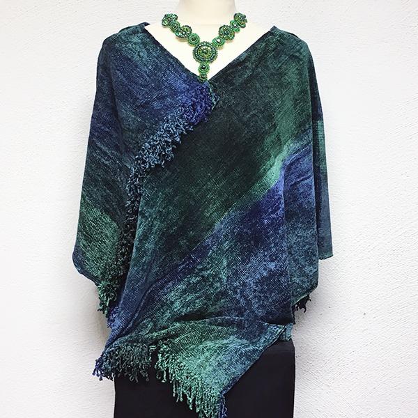 Bambuponcho Smaragd