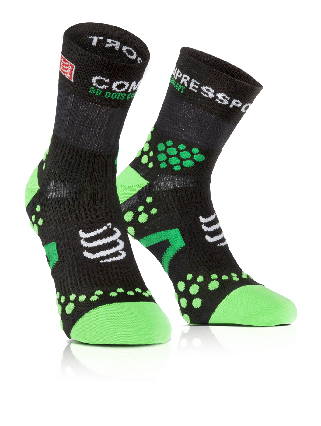 ProRacing Socks V2_1-RUN HIGH-Black-Green