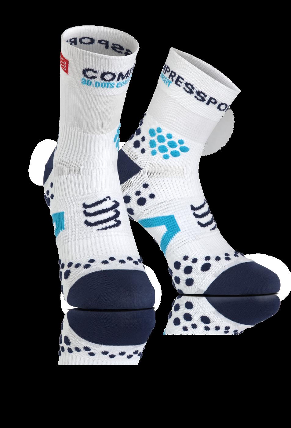 ProRacing Socks V2_1-RUN HIGH-White-Blue