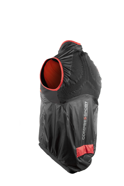 Cycling Hurricane WindProtect Vest BLACK - backside