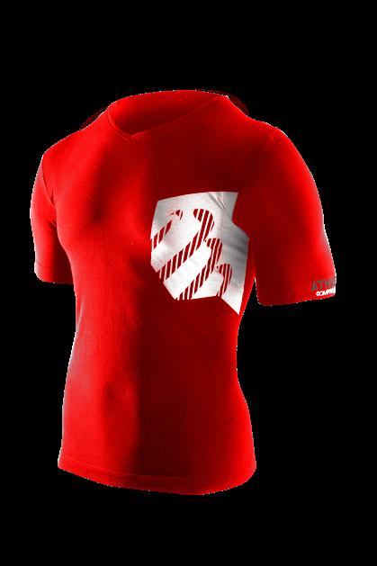 Casual Postural Tshirt MAN - Red_White - HD