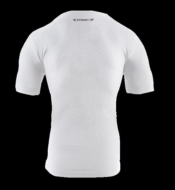 Casual Postural Tshirt - White_Hibiscus - Back