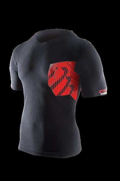 Casual Postural Tshirt WOMAN - Black_Red
