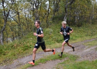 Tätduon i herrklassen, segraren Anders Tettli/Rennemo steget före Ole Marius Bach.
