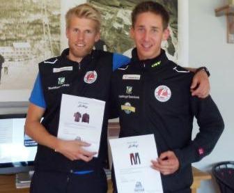 Ettan och tvåan igår (Klinken Runt), idag (Mittåkläpen Upp), totalt och på nya rekordtider. Anders Tettli Rennemo och Ole Marius Bach från Leksvik Elite.