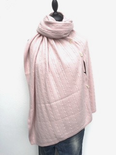 Cashmere Poncho Soft Pink - Soft Pink