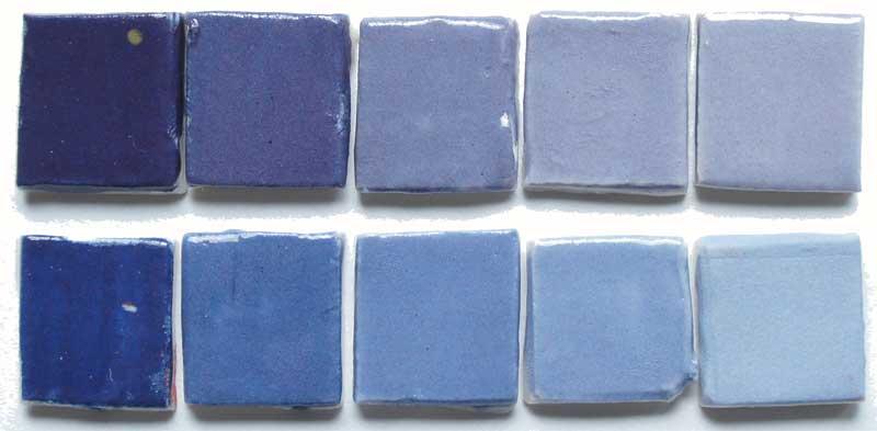 deco-basic 14 - prover. Alla färger kan blandas med vitt för ljusare skala.