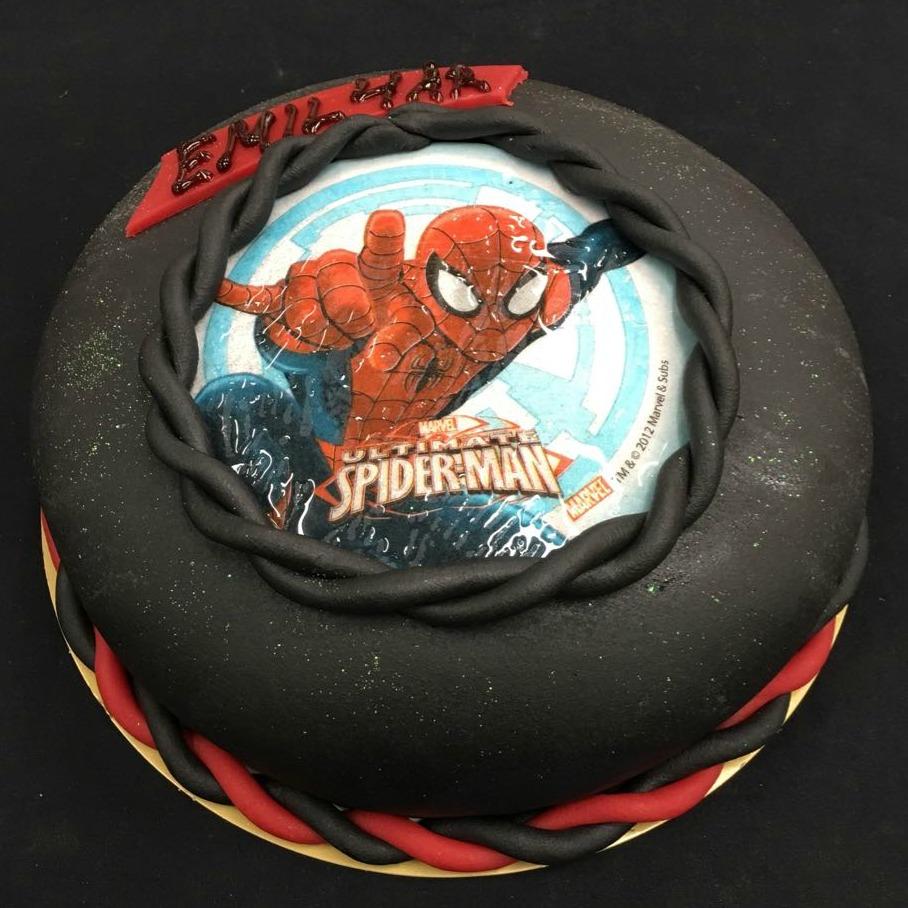 Spiderman tårta