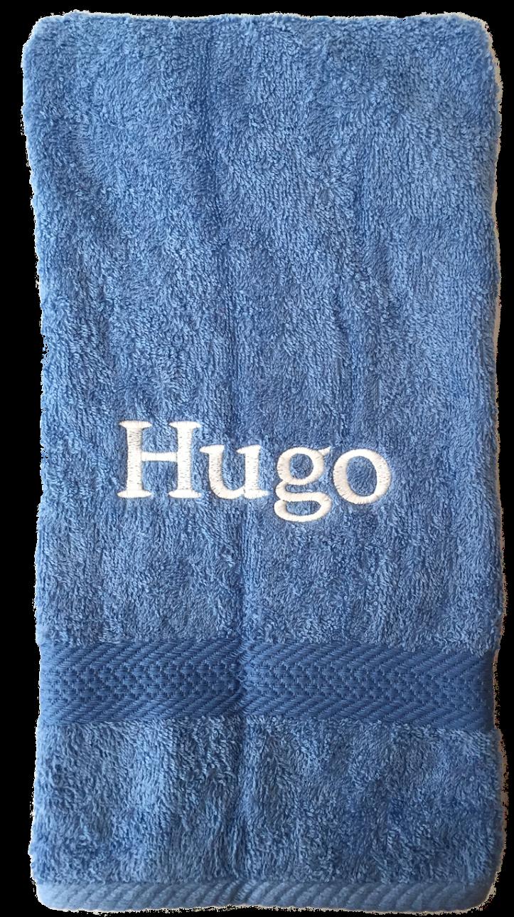 ljusblå handduk