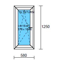 Sido/underhängt fönster 6x13