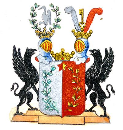 Vapensköld för Adliga släkten Lagerheim Nr 341