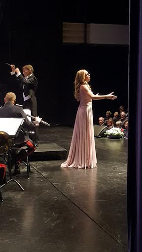 Conductor Hannu Koivula and soprano Hannah Holgersson at Harstad Kulturhus