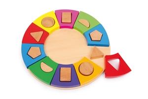 Pussel, Färg-formcirkel av trä -