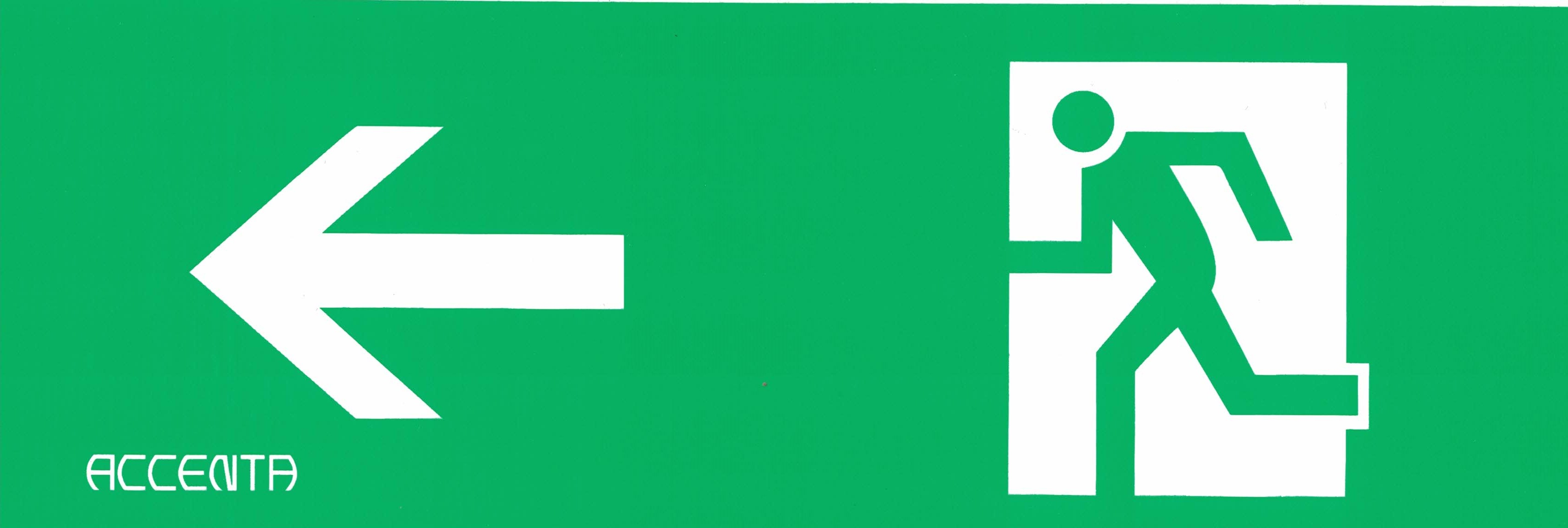 Pictogram 300x100 mm pil vänster 16-7200-16    20180130