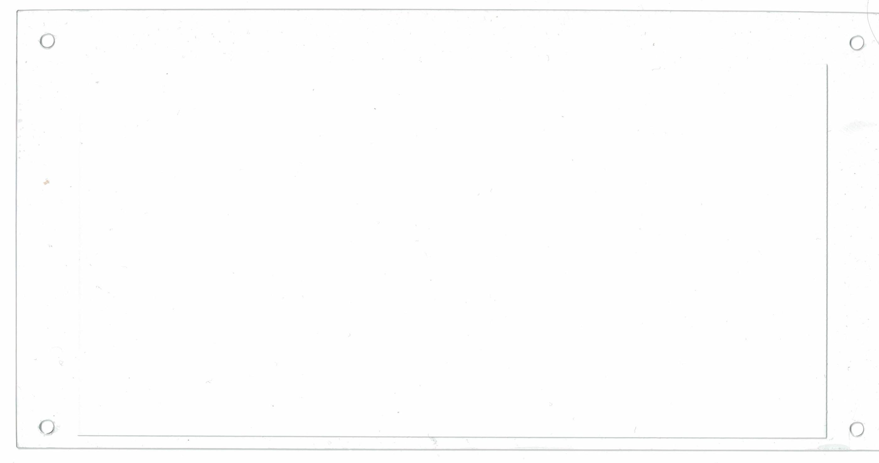 Frontskiva U 25 blank 288x145mm 16-7200-23               20180130