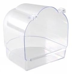 Fågelbad heltransparent 13x15x14 cm  - Fågelbad heltransparent 13x15x14 cm