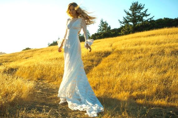 Flower Power klänning från Wear Your Love/Etsy - ekologiska brudklänningar