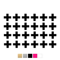 Wall stickers Kryss/plus - Valfri färg