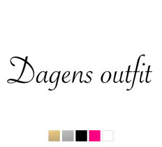 Wall stickers - Dagens outfit - Guld