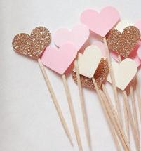 Dekoration - Hjärtan - Rosa