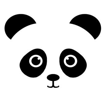 Wall stickers - Panda - Svart