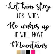 Wall stickers - Let him sleep