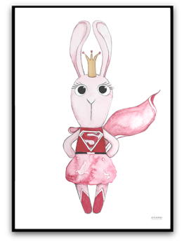 Super bunny girl - A4 matt fotopapper