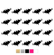 Wall stickers - Halloween fladdermöss - Svart