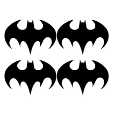 Wall stickers - Batman ikon 10cm