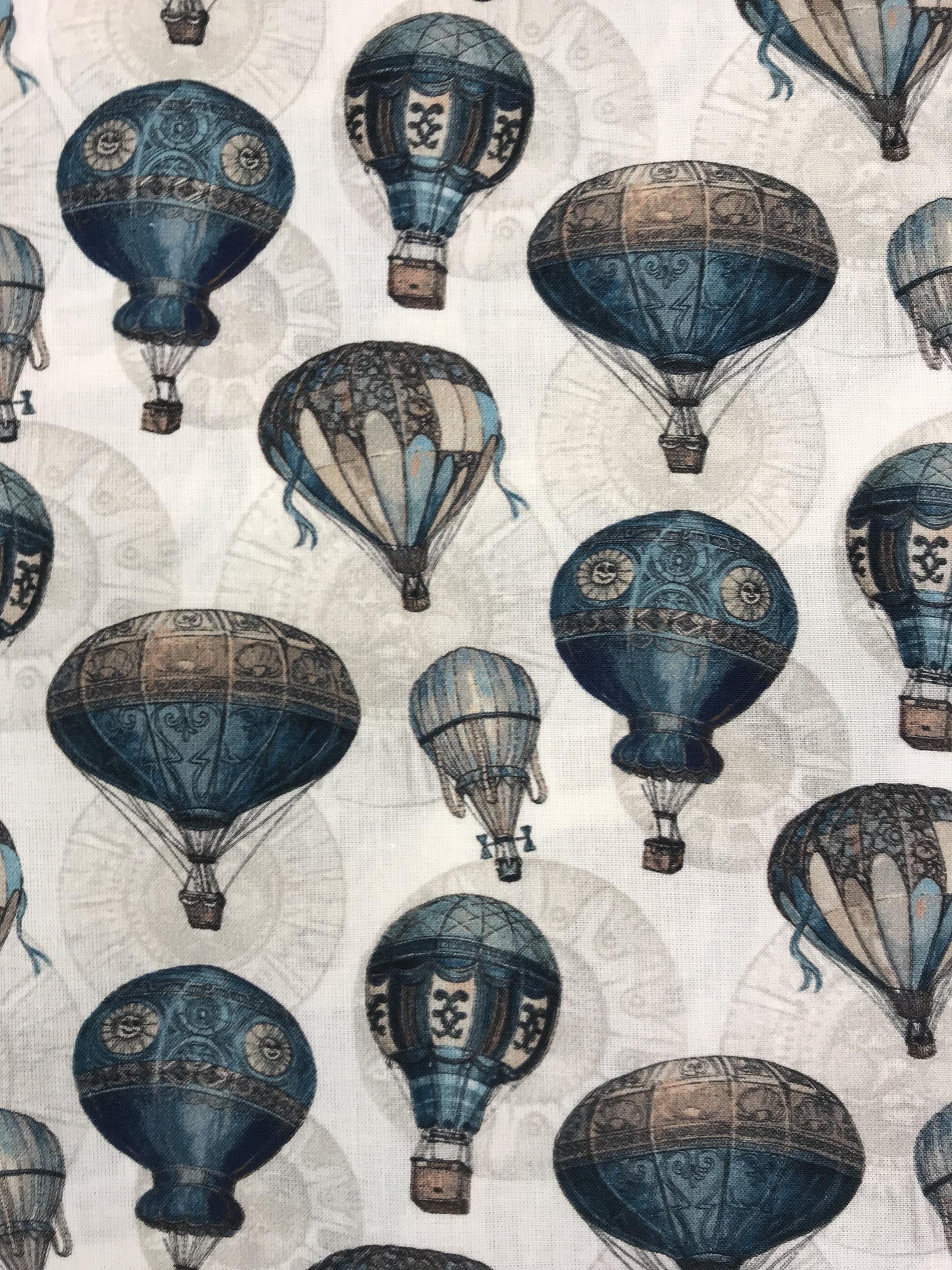 luftballong bomull vävt tyg  metervara