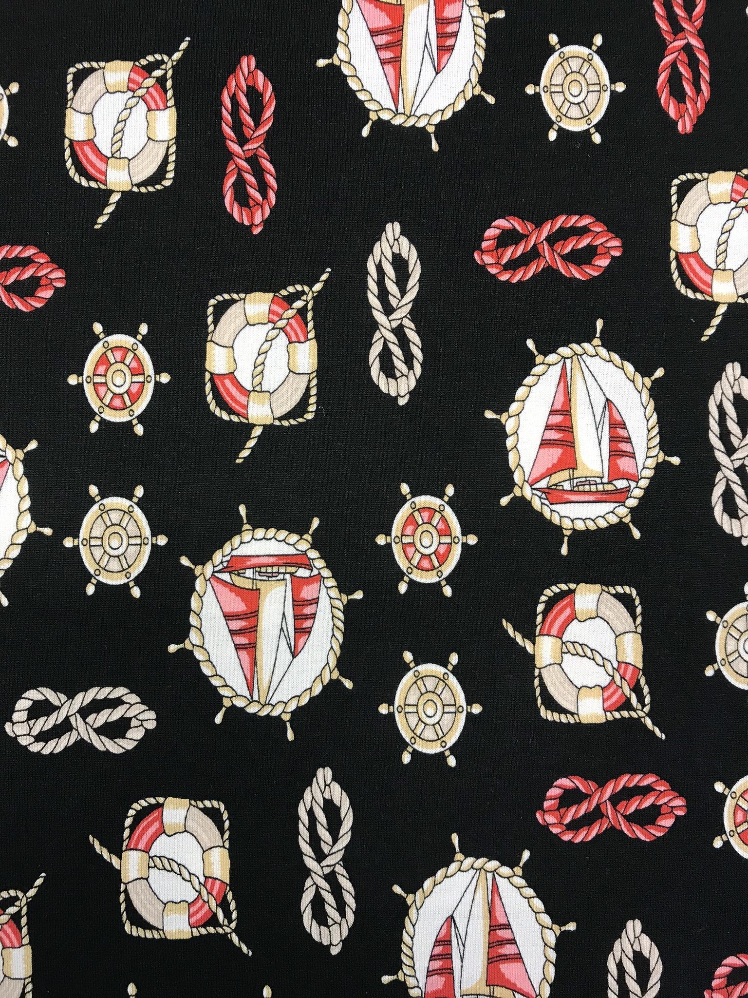 sailor trikåtyg retro marin rep metervara tyg