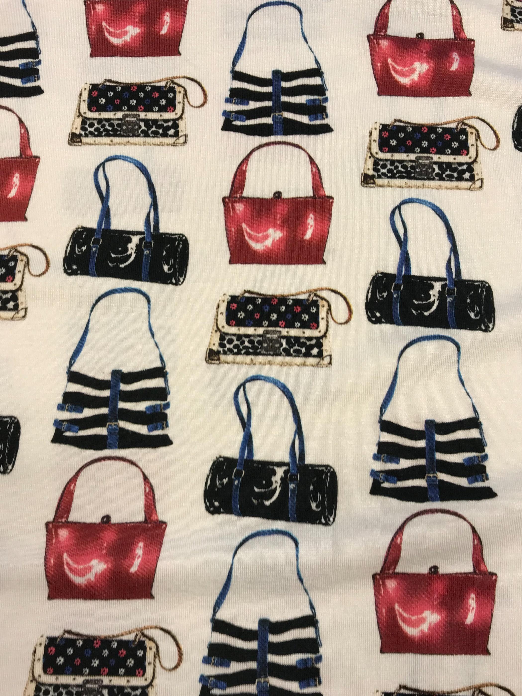 handväska tyg trikå viskos metervara mode