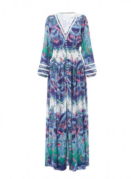 caroline-blue-print-tropic-vneck-maxi-dress-2018