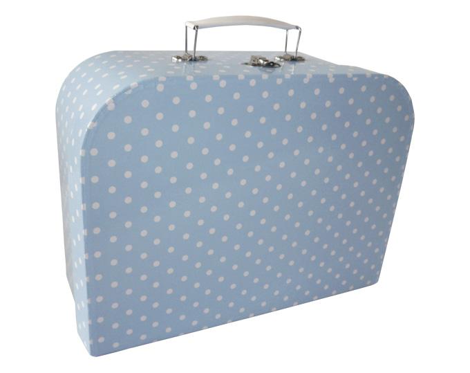 Porslinsservis i väska blå 2