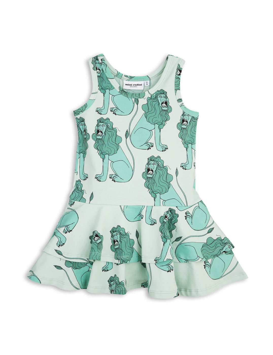 1715013573 mini rodini lion frill dress light green 1