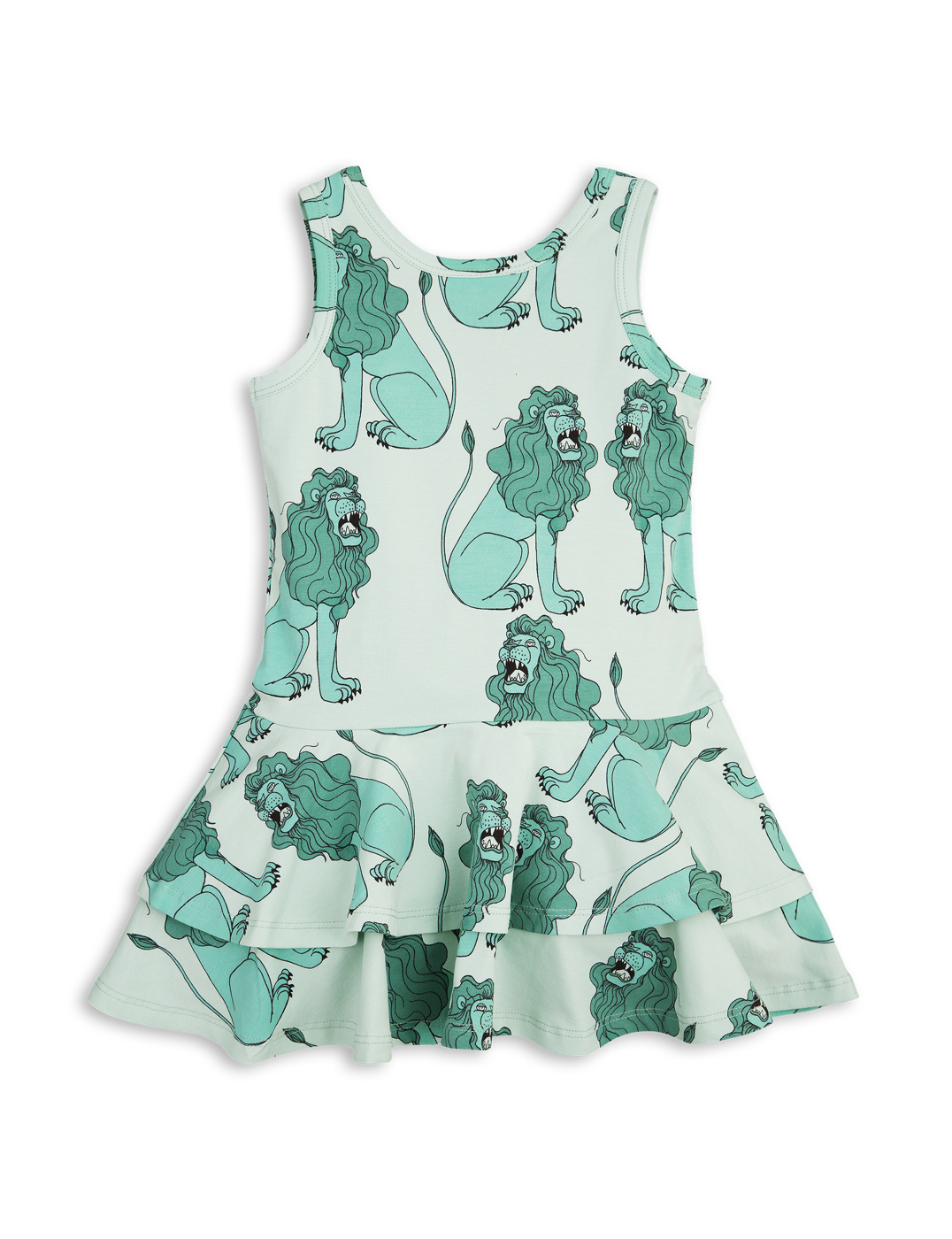 1715013573 mini rodini lion frill dress light green 2