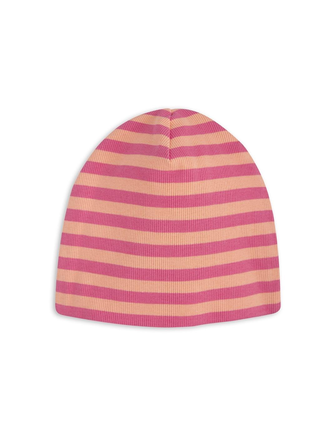 1776515333 2 mini rodini stripe rib beanie pink