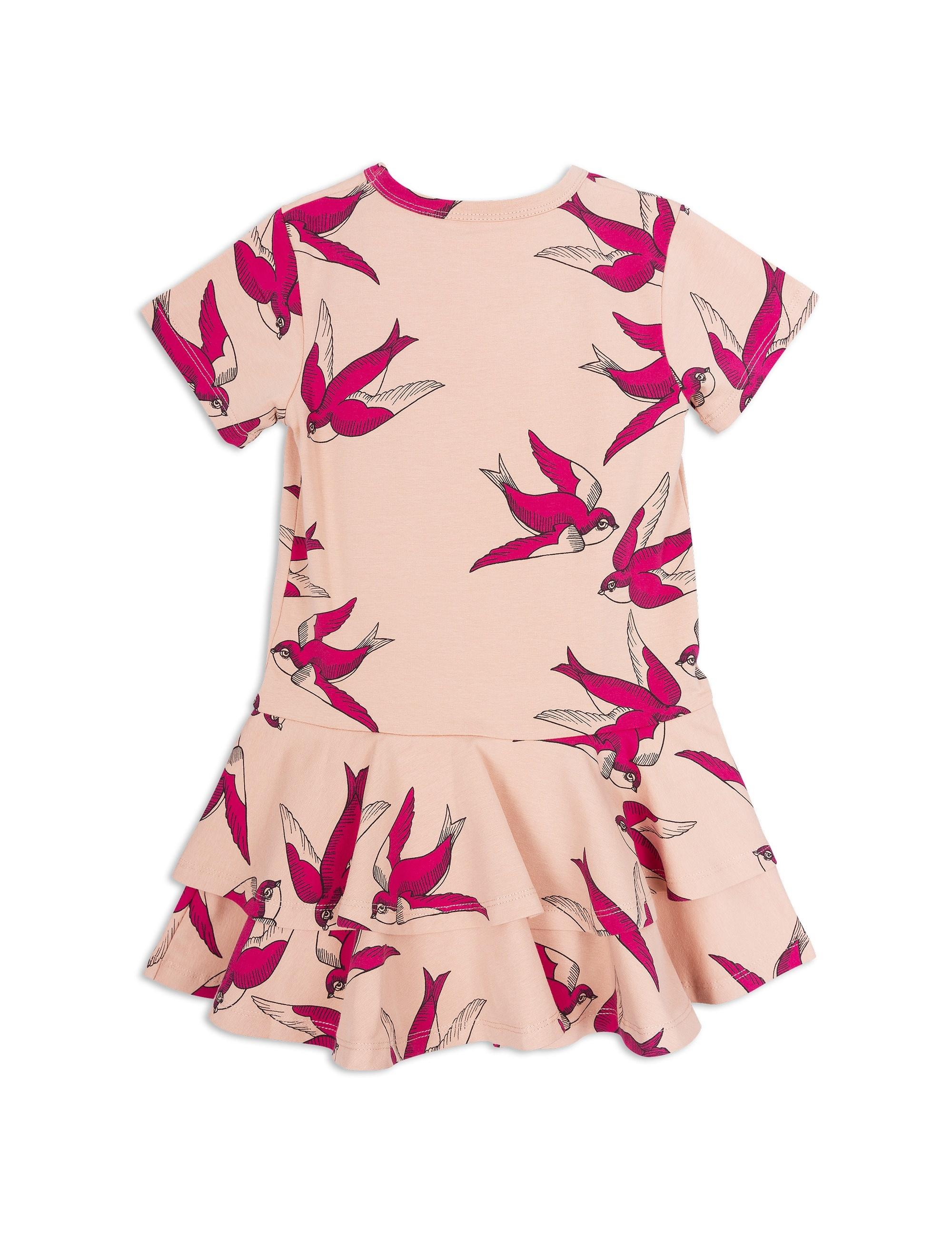 1825014233 2 mini rodini swallows frill dress pink