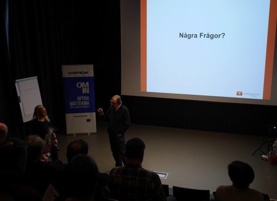 Christer Söremark från Corrvision håller frågestund efter sin inspirerade föreläsning om produktutveckling av lösningar för pappersindustrin.