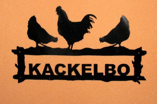 Välkomstskylt Kackelbo