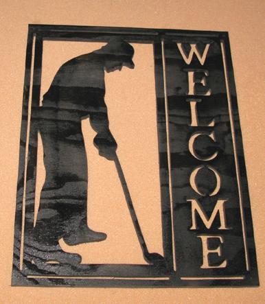 Välkomstskylt Golfare Manlig
